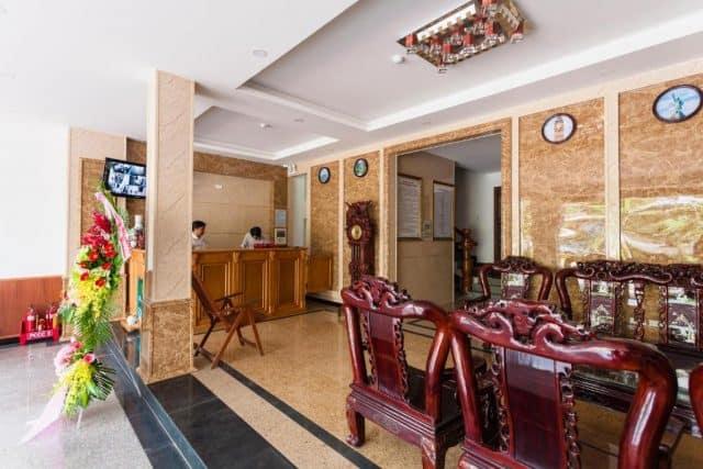 Sảnh tiếp khách ở khách sạn Thanh Thanh (Ảnh ST)