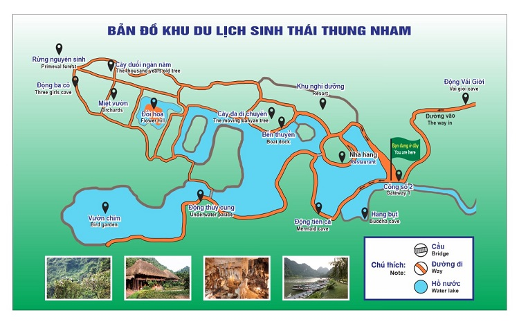 Bản Đồ du lịch Thung Nham