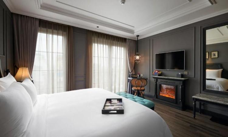 Phòng Deluxe khách sạn hạng sang hà nội La Siesta
