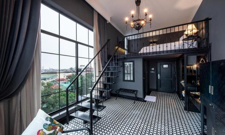 Phòng Duplex Suite khách sạn hạng sang hà nội La Siesta 27 Hàng Bè