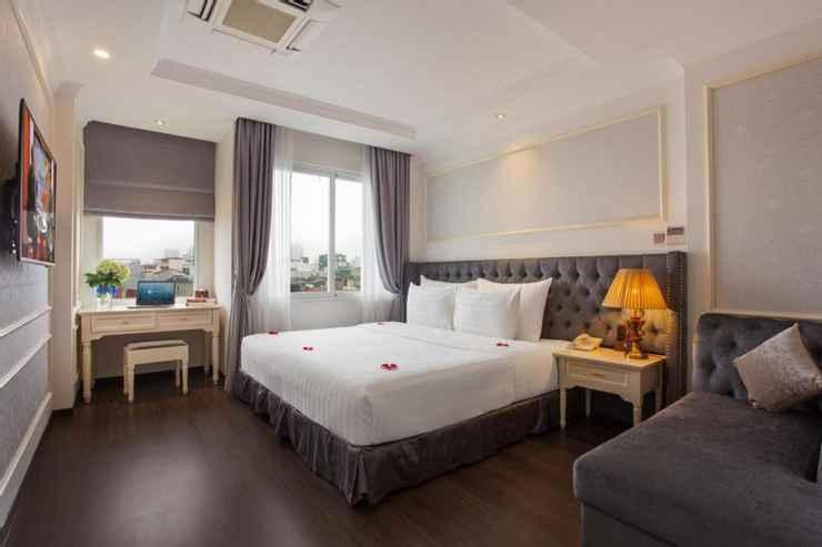 phòng deluxe double khách sạn hạng sang luxury old quarter 67 Hàng Bồ Hà Nội
